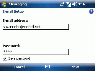HP iPAQ 900 Business Messenger Series - How to Set Up Email