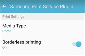 Example of additional print settings in More Options