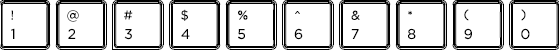 Hebrew keyboard top row detail