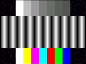 Image of the setup test pattern.
