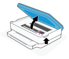 Opening the ink cartridge access door