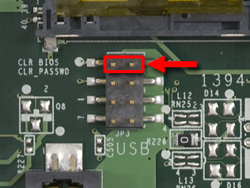 Photograph of CMOS jumpers