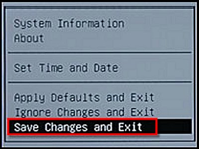 Save Changes and Exit