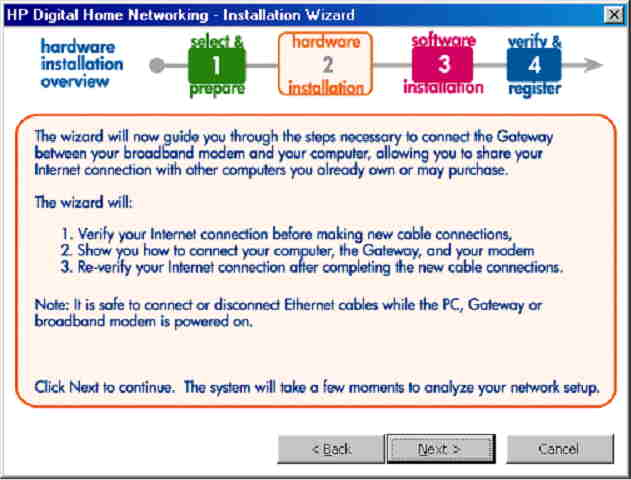 HP Digital Home Networking - Setting Up and Installing the