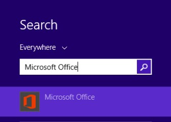 Searching for Microsoft Office