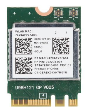 Wireless card top view