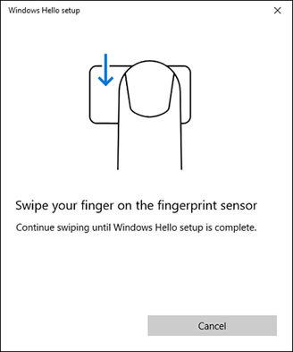 Scanning your finger