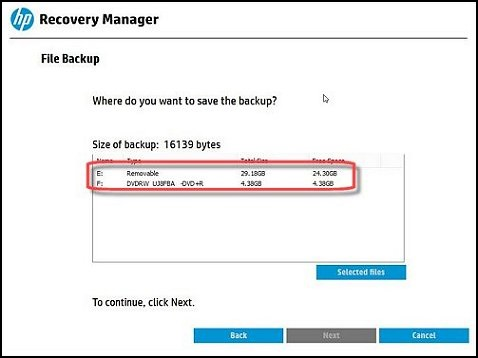 HP Backup and Recovery Manager 64Bit