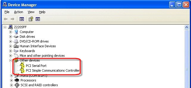 「PCI シンプル通信コントローラ」 のドライバが欲 …