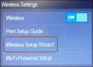 Connecting a hp officejet wireless printer to a wireless network.