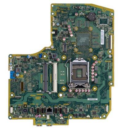 Bulldozer-US motherboard top view