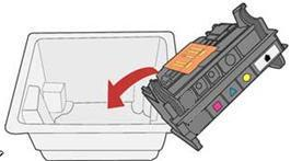 Graphic: Put the old printhead into the package
