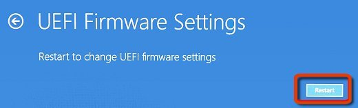 UEFI Firmware Settings Restart