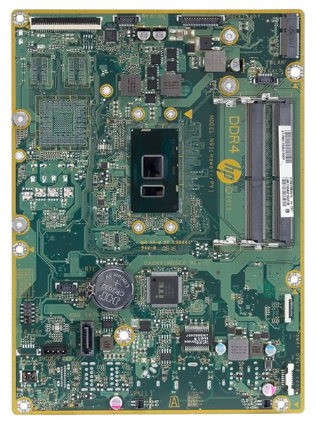 Hawaii-KU motherboard top view