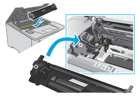 Inserting the toner cartridge