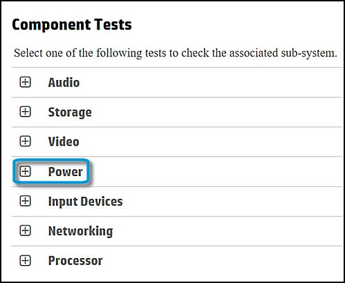 Selecting Power in Component Tests