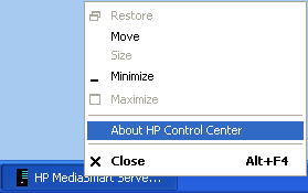 About HP Control Center