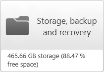 「Storage, backup and recovery」(儲存、備份與復原) 按鈕的影像