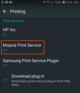 Example Of Mopria Print Service