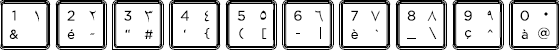 Arabic-French keyboard top row detail