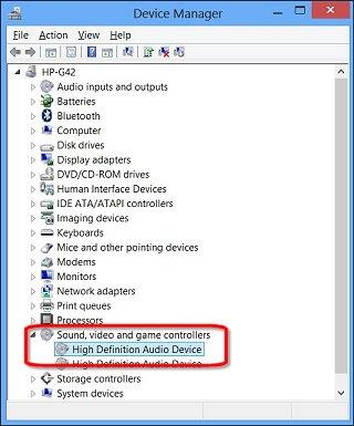 Image result for administrador de dispositivos audio