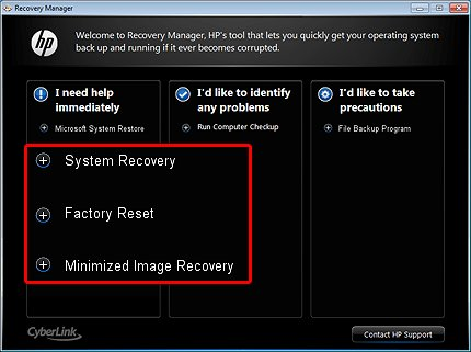HP Notebook PCs - Using System Recovery, Factory Reset and