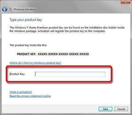 activate windows 7 key online