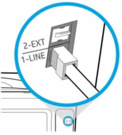 Connect the 1-LINE phone connection