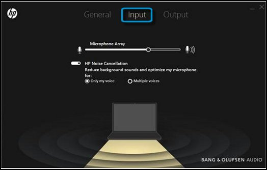 Bang & Olufsen Audio app showing the Input settings