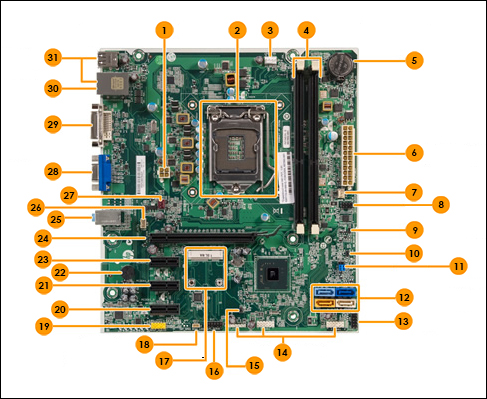 layout of cupertino2 motherboard