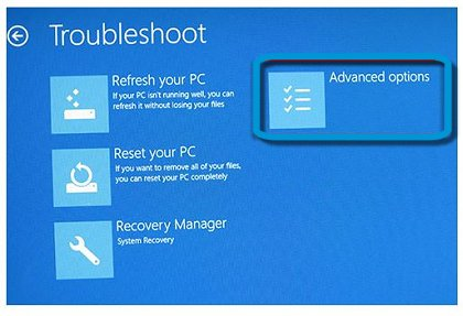 Troubleshoot: Advanced options