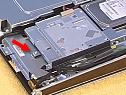 The CD/DVD drive assembly screw