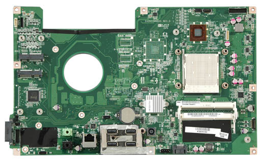 Photograph of motherboard