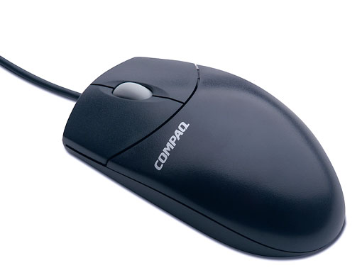 Compaq PS/2 scroller mouse top view