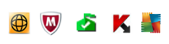 Tray icons for common security software