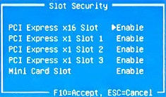 Slot security