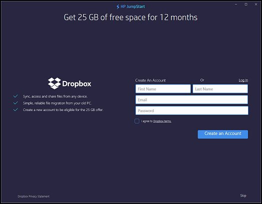 does dropbox take up space on my computer