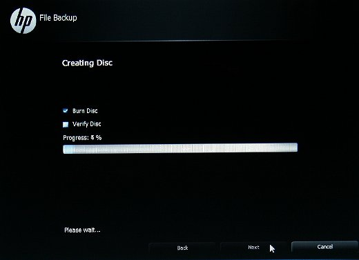 Progression de la sauvegarde