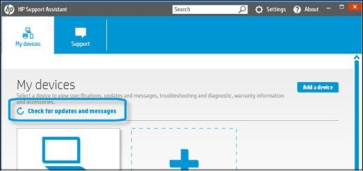 Check for HP updates now in HP Support Assistant