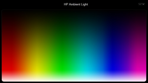 HP Ambient Light screen
