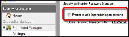 Disable the access manager logon prompt