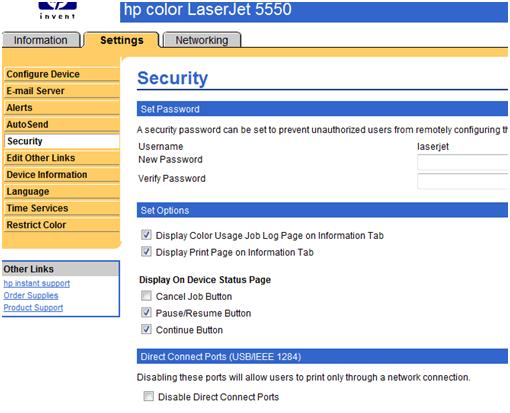After The Web Server Is Refreshed Color Usage Job Log Will Not Be Displayed In EWS Or Control Pane Of Printer