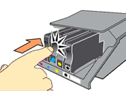Image: Press to release the cartridge.