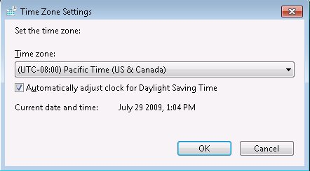 Time Zone Settings
