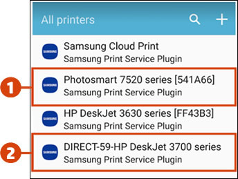 Selecting the printer