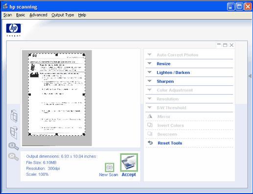 HP Scanjet G3010 Photo Scanner - Front Panel Scan to PDF