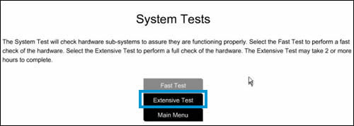 Selecting the Extensive Test