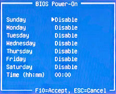 BIOS Power-On (BIOS-Aktivierung)