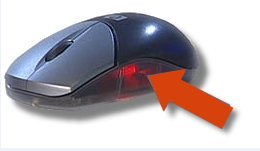 Mouse with clear base highlighted