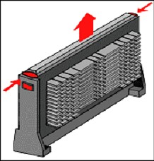 Slot Processor retaining tabs